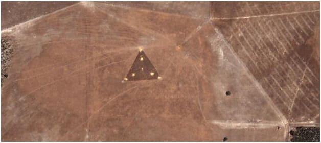 Triángulo en las cosecha