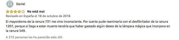 Reseña de Amazon