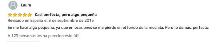 Reseña de Navaja en Amazon.