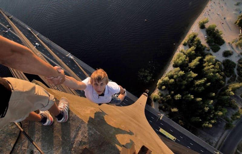 Foto en lo más alto de un edificio